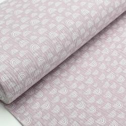 Tkanina bawełniana - muślin - różowy w tęcze