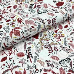Organic tkanina bawełniana zielnik brązy