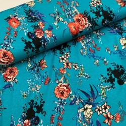 Dziania wiskozowa, jersey - niebieski