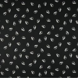 Tkanina bawełniana czaszki