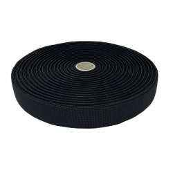 Guma tkana 20 mm czarna