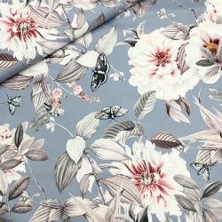 Tkanina wodoodporna kwiaty i motyle
