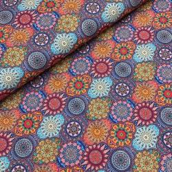 Tkanina wodoodporna mandale kolorowe