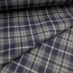 Tkanina płaszczowa wełniana gran - szara