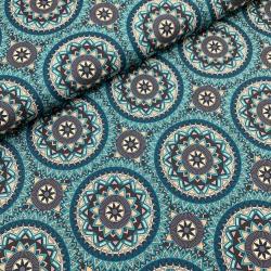 Tkanina wodoodporna mandale niebieskie