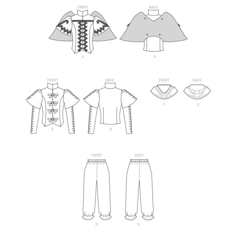 3 simplicity military cosplay costumes pattern