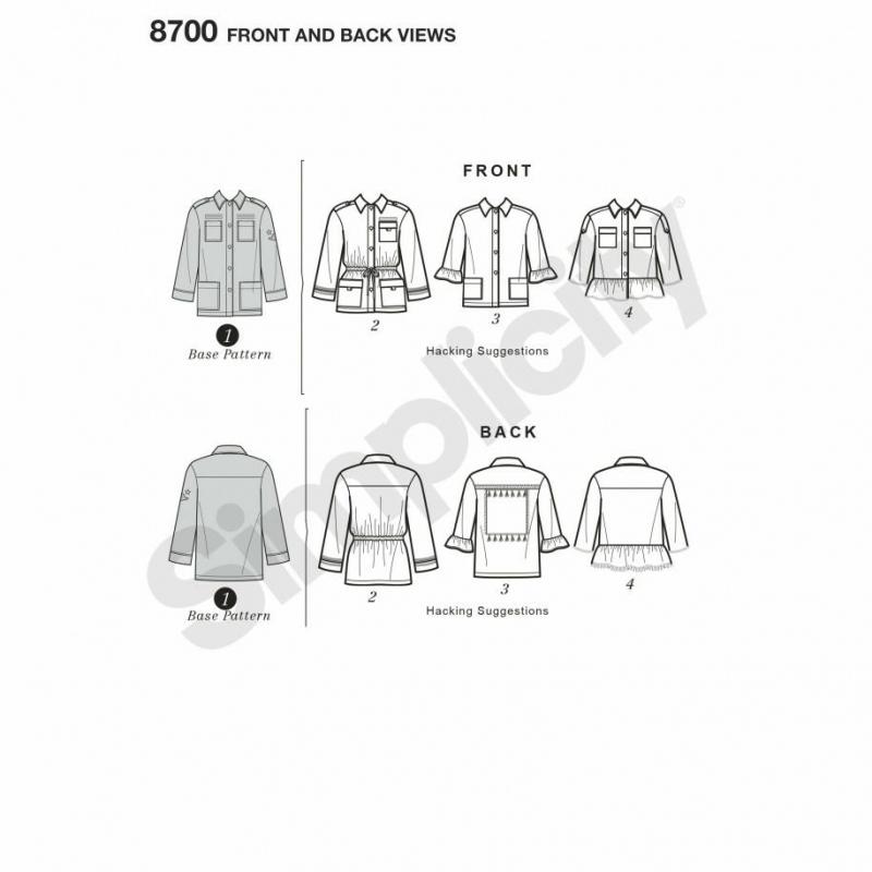 Wykrój Simplicity 8700