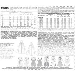 Wykrój McCall's M6420