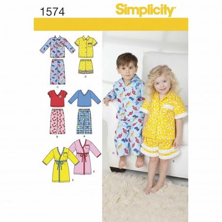 simplicity babies toddlers pattern 1574 envelo