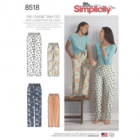 8518 simplicity slim pjs pattern 8518 envelope fro