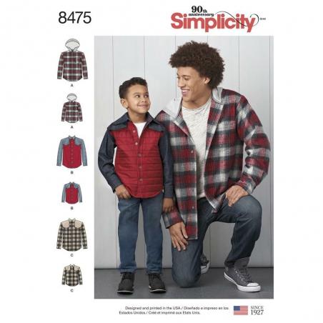 8475 simplicity shacket pattern 8475 envelope fron